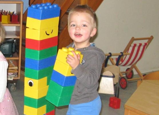 bouwen met de reuzenduploblokken