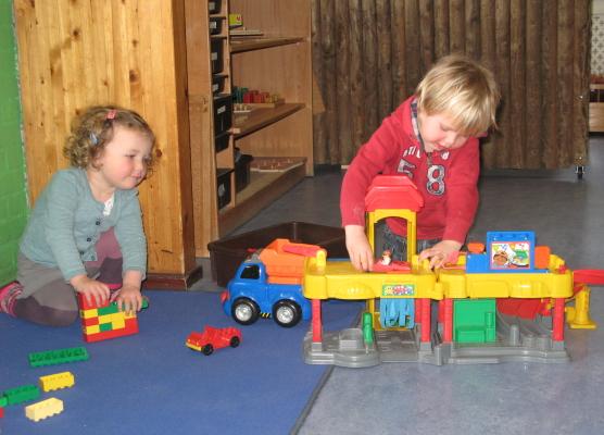 samen spelen in de bouwhoek